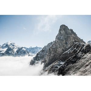 フリー写真, 風景, 自然, 山, 雲, 雲海, スイスの風景