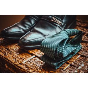フリー写真, メンズファッション, ネクタイ, 靴(シューズ), 革靴