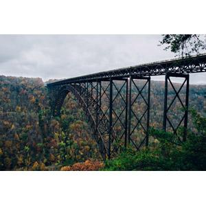 フリー写真, 風景, 建造物, 橋, アメリカの風景, ウェストバージニア州