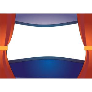 フリーイラスト, ベクター画像, EPS, 背景, 映画, 映画館, 舞台幕, スクリーン