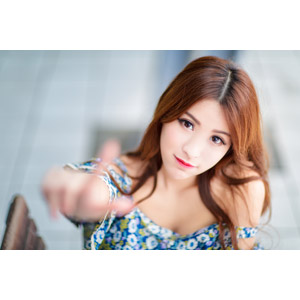 フリー写真, 人物, 女性, アジア人女性, 鄔育錡(00178), 中国人, タッチする