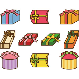 フリーイラスト, ベクター画像, AI, プレゼント, プレゼント箱, ラッピングリボン, 誕生日(バースデー)