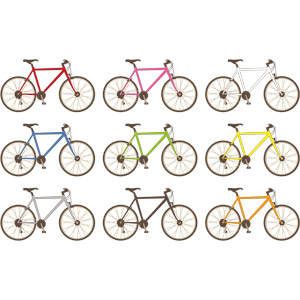 フリーイラスト, ベクター画像, AI, 乗り物, 自転車, クロスバイク