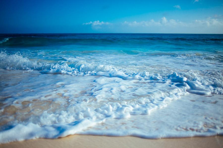 フリー写真 バハマの砂浜と海の風景