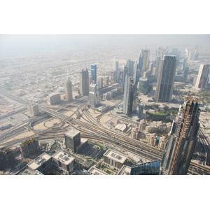 フリー写真, 風景, 建造物, 建築物, 高層ビル, 都市, 街並み(町並み), 高速道路, ドバイ, アラブ首長国連邦の風景
