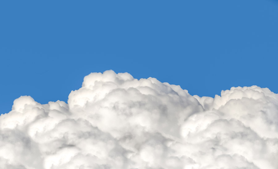 フリー写真 青空ともくもく雲の風景