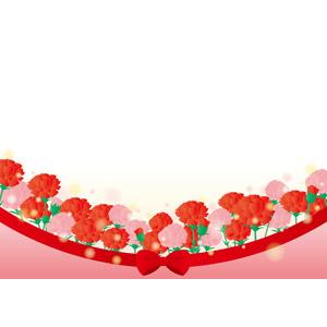フリーイラスト, ベクター画像, AI, 背景, 年中行事, 母の日, 5月, 植物, 花, カーネーション, リボン