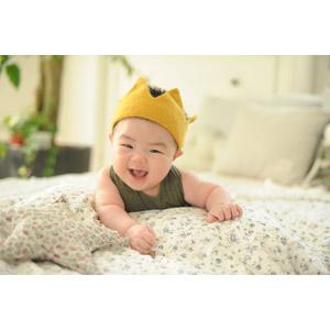 フリー写真, 人物, 子供, 赤ちゃん, 笑う(笑顔), 韓国人