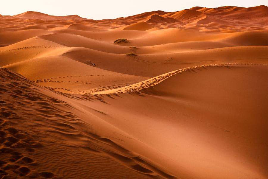 フリー写真 モロッコのサハラ砂漠の風景