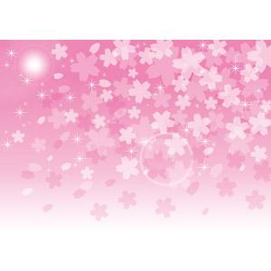 フリーイラスト, ベクター画像, EPS, 背景, 桜(サクラ), 花びら, 桜吹雪, ピンク色, 春