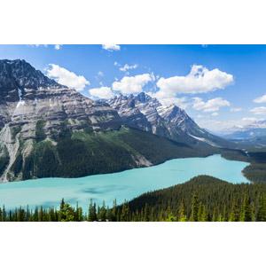 フリー写真, 風景, 自然, 山, 湖, バンフ国立公園, カナダの風景, アルバータ州, ロッキー山脈
