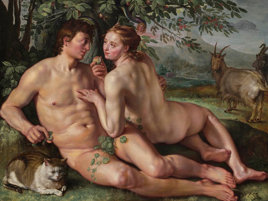 フリー絵画 ヘンドリック・ホルツィウス作「人類の堕落」