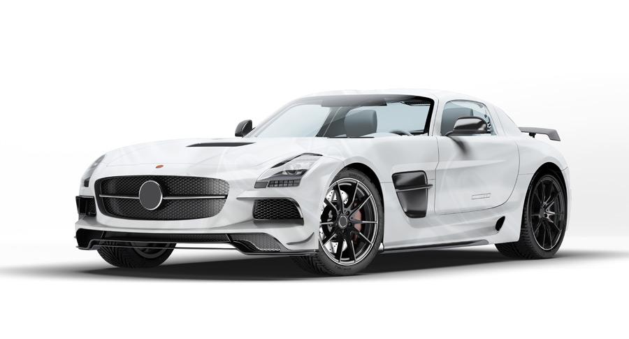 フリーイラスト メルセデスベンツ SLS AMG