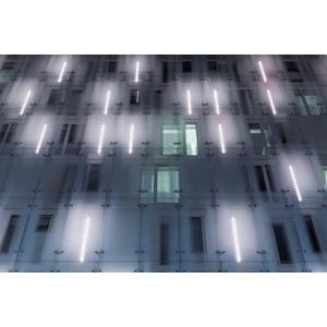 フリー写真, 背景, 建造物, 建築物, 蛍光灯, 夜, 光(ライト)