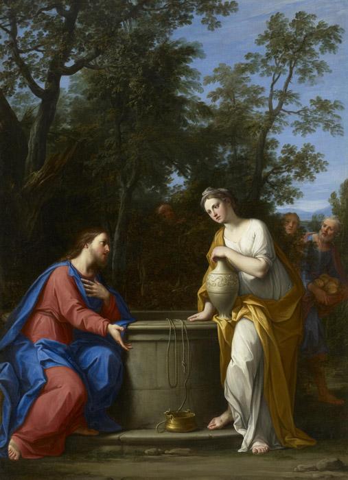 フリー絵画 マルカントニオ・フランチェスキーニ作「キリストとサマリア人の女」