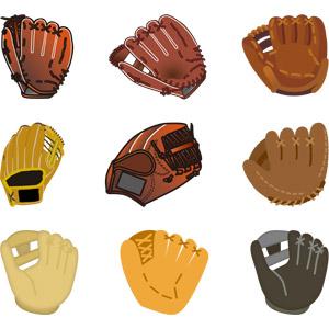 フリーイラスト, ベクター画像, AI, スポーツ, 球技, 野球(ベースボール), グローブ(グラブ)