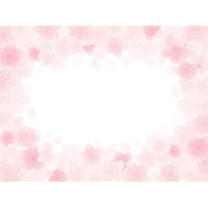 フリーイラスト, ベクター画像, AI, 背景, フレーム, 囲みフレーム, 花, 桜(サクラ), 花びら, 春