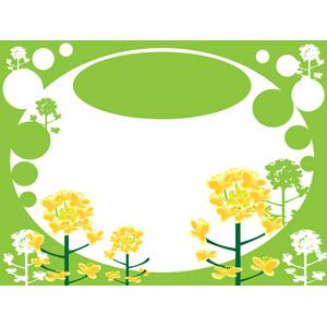 フリーイラスト, ベクター画像, AI, 背景, 植物, 花, 菜の花(アブラナ), 黄色の花, 春