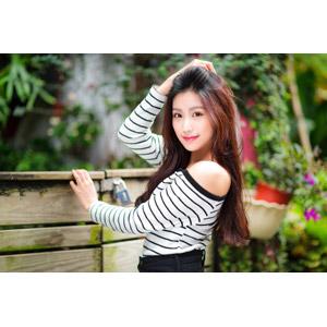 フリー写真, 人物, 女性, アジア人女性, 楚珊(00053), 中国人, 髪をかき上げる