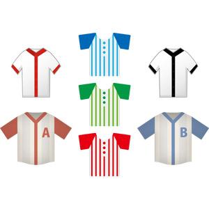 フリーイラスト, ベクター画像, AI, スポーツ, 球技, 野球(ベースボール), ユニフォーム, 衣服(衣類)