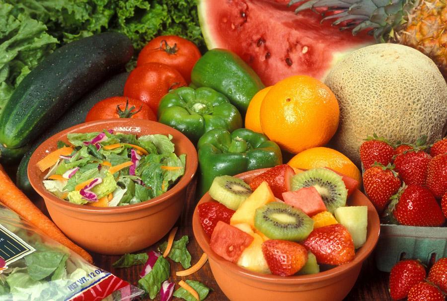 フリー写真 新鮮な野菜と果物