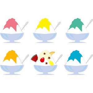 フリーイラスト, ベクター画像, AI, 食べ物(食料), 菓子, かき氷, 夏