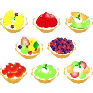 フリーイラスト, ベクター画像, AI, 食べ物(食料), 菓子, 洋菓子, ケーキ, スイーツ, タルト, 果物(フルーツ)