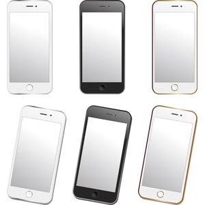 フリーイラスト, ベクター画像, AI, 電話, 携帯電話, スマートフォン(スマホ), iPhone, アップル(Apple)
