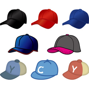 フリーイラスト, ベクター画像, AI, スポーツ, 球技, 野球(ベースボール), 帽子, 野球帽, キャップ帽