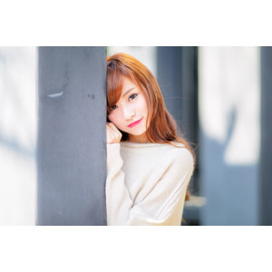 フリー写真, 人物, 女性, アジア人女性, 中国人, 女性(00183), 物陰, 覗く