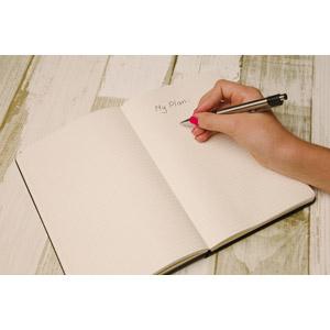 フリー写真, 人体, 手, ボールペン, 手帳, 書く, 計画