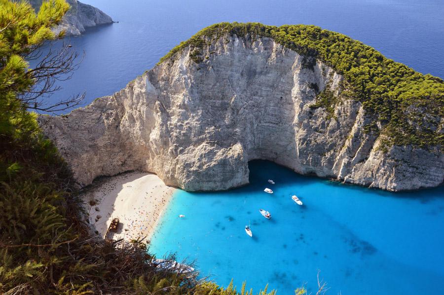 フリー写真 ギリシャ領のザキントス島の海とビーチ
