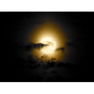 フリー写真, 風景, 自然, 夜空, 月, 満月, 雲