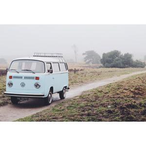 フリー写真, 乗り物, 自動車, フォルクスワーゲン, ワーゲンバス, 田舎