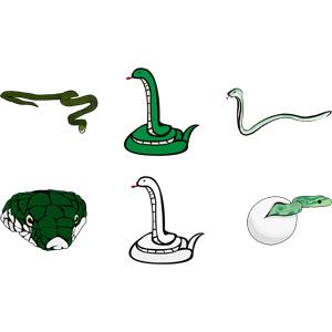 フリーイラスト, ベクター画像, AI, 動物, 爬虫類, 蛇(ヘビ), 巳年, 孵化, 動物の顔