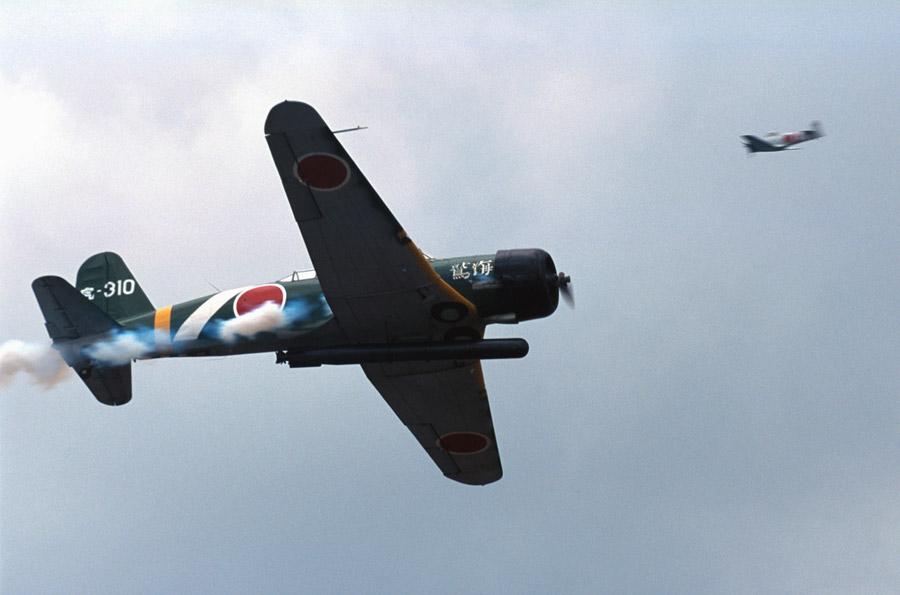 フリー写真 九七式艦上攻撃機のレプリカ機