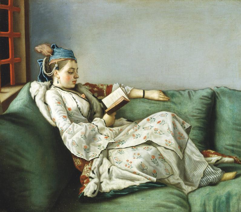 フリー絵画 ジーン・エティエン・リオタール作「マリー・アデライード・ド・フランスの肖像」