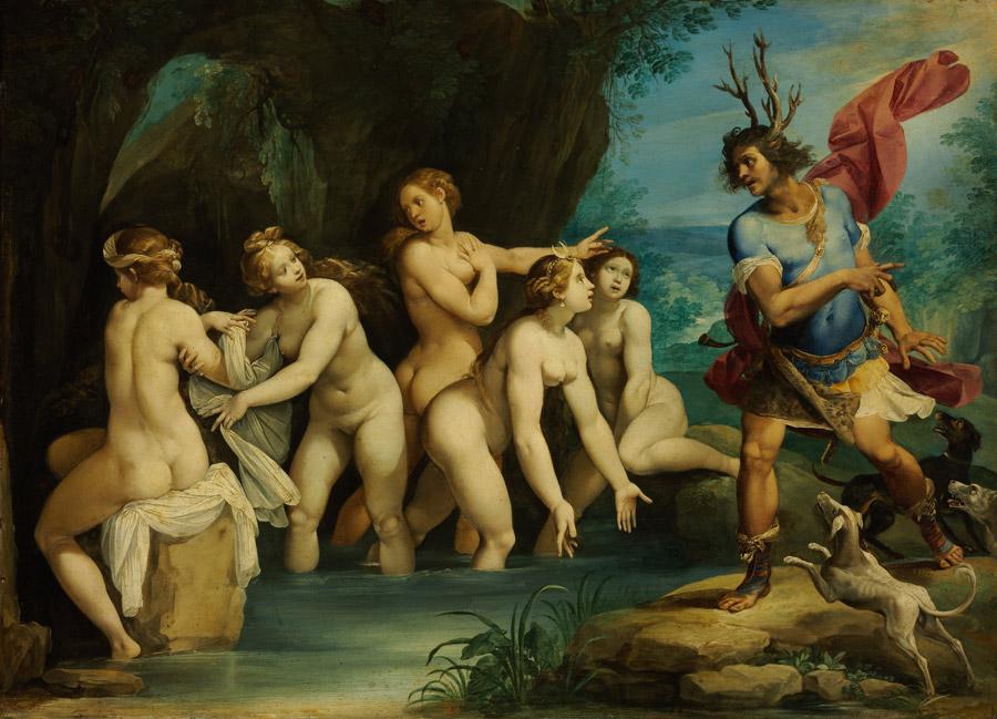 フリー絵画 ジュゼッペ・チェーザリ作「ディアナとアクタイオン」