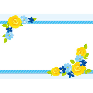 フリーイラスト, ベクター画像, EPS, 背景, フレーム, 上下フレーム, 年中行事, 父の日, 6月, 植物, 花, 薔薇(バラ)