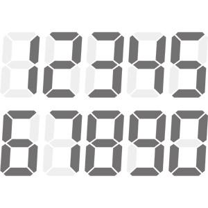 フリーイラスト, ベクター画像, EPS, 数字, 0(零), 1(一), 2(二), 3(三), 4(四), 5(五), 6(六), 7(七), 8(八), 9(九)