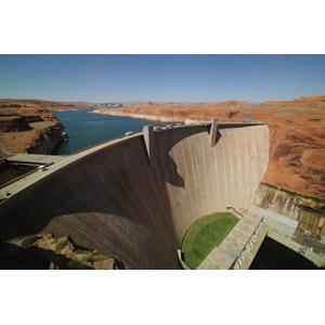 フリー写真, 風景, 建造物, ダム(堰堤), 河川, コロラド川, アメリカの風景, アリゾナ州