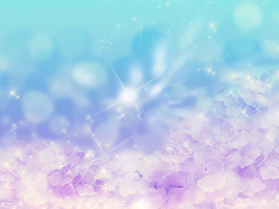 フリー写真 幻想的な紫陽花と光の背景