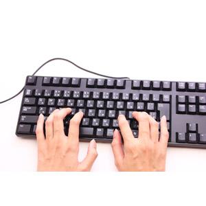 フリー写真, 人体, 手, キーボード(PC), パソコンの周辺機器, ビジネス, デスクワーク, 白背景, タイピング