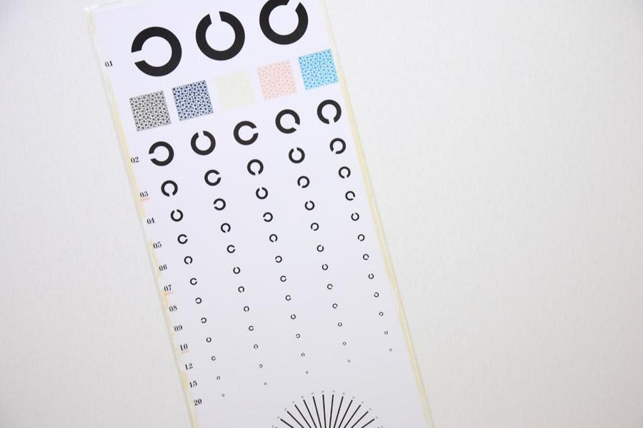 フリー写真 視力検査で使われる視標