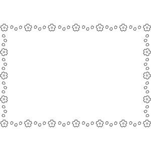 フリーイラスト, ベクター画像, EPS, 背景, フレーム, 囲みフレーム, 花柄, 桜(サクラ), 花びら, 春, ラインアート
