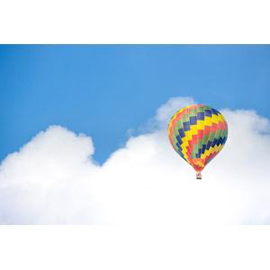 フリー写真, 風景, 空, 雲, 乗り物, 熱気球