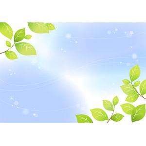 フリーイラスト, ベクター画像, EPS, 背景, 植物, 葉っぱ, 新緑