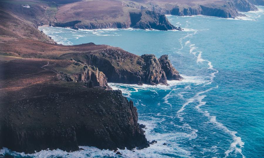 フリー写真 イングランドのランズエンド岬の風景