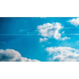フリー写真, 風景, 自然, 空, 青空, 雲, 飛行機雲