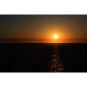 フリー写真, 風景, 自然, 海, 夕暮れ(夕方), 夕焼け, 夕日, アメリカの風景, フロリダ州